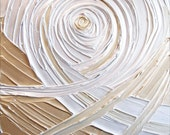 Painting Gold Pearl White Soft Light Silver Abstract Acrylic Large 30x24 High Quality Original Sculpture Modern Fine Art
