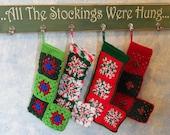 Crocheted Christmas Stockings - like grandma used to make!