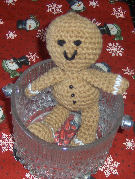 Amigurumi Gingerbread Boy Crochet PATTERN - PDF