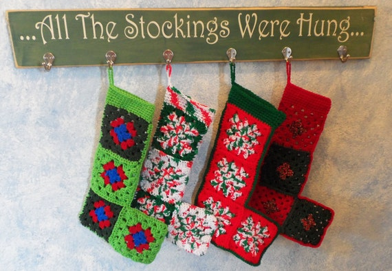 Crocheted Christmas Stockings - like grandma used to make!