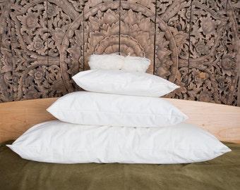 Organic Cotton Pillows, in an organic cotton shell