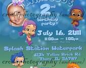 Personalized Bubble Guppies Birthday Invitation
