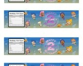 Personalized Bubble Guppies Water Bottle Labels - Boy or Girl