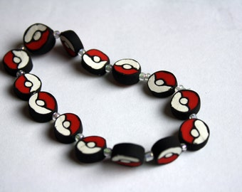 Beaded Pokeball Bracelet