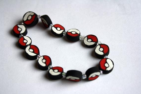 Beaded Pokeball Bracelet