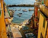 Cinque Terre Bay Scene - 8x10 - Fine Travel Photograph