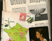 French Map lots Vintage Scrapbook and Collage Kit