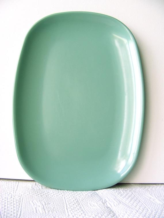 Melmac Aqua green Ornamin Wear melmac melamine mid century platter tray plate Australia
