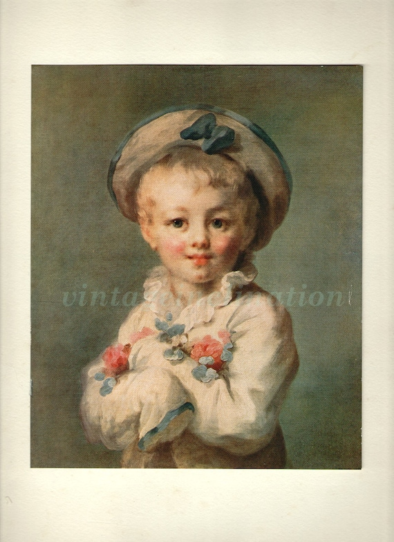 Antique art print, The Fair Haired Child, vintage print, 1700s, vintage, art print Illustration, paper, decor, wall, children art 1915