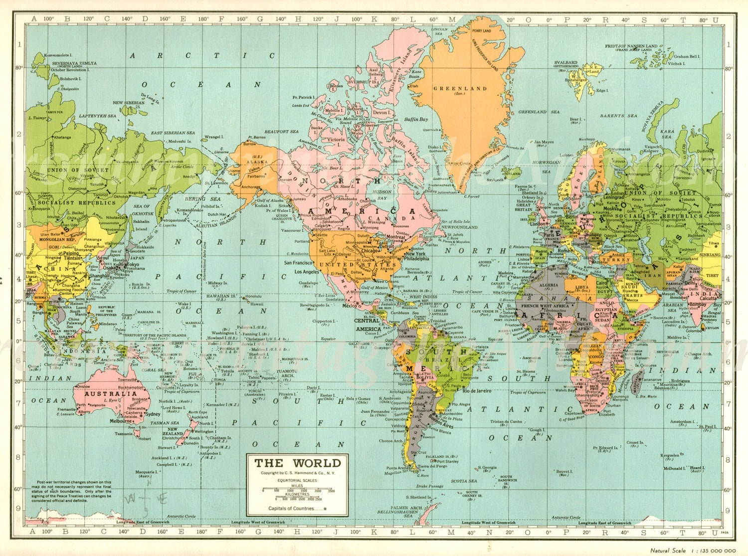 Vintage World Map Picture Images