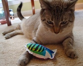 Catnip Cat Toys - Set of 3 - Colorful Fish with Rainbow Fabric