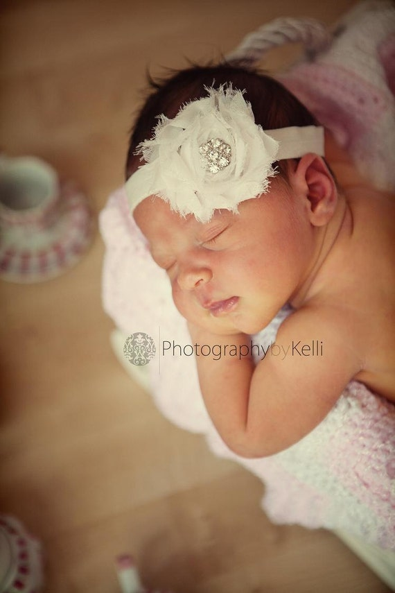 items similar to ivory flower headband baby items similar to baby headbands baby headband