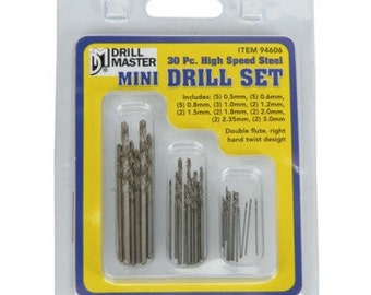 DRILL BIT SET Mini 30 pc. High Speed Steel -  Jewelry Tools for Metal Work
