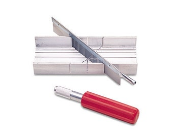 MITRE SAW  SET - Saw - Box and Handle - Great for Sawing Wax Ring Tubes - Metal Clay - Plastic - Wood  -  Jewelry Tools for Metal Work