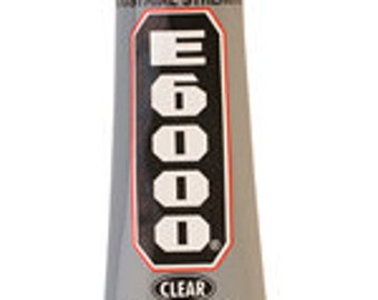 E-6000 GLUE ADHESIVE - 1 oz. - Glue Metal - Plastic-Glass-Rubber-Tile-Marble-Ceramic-Vinyl-Fabric-Leather-Wood - Ground Ship Only