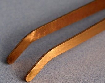 COPPER TONGS CURVED for use in Soldering and Pickling- Metal Working Jewelry Tool