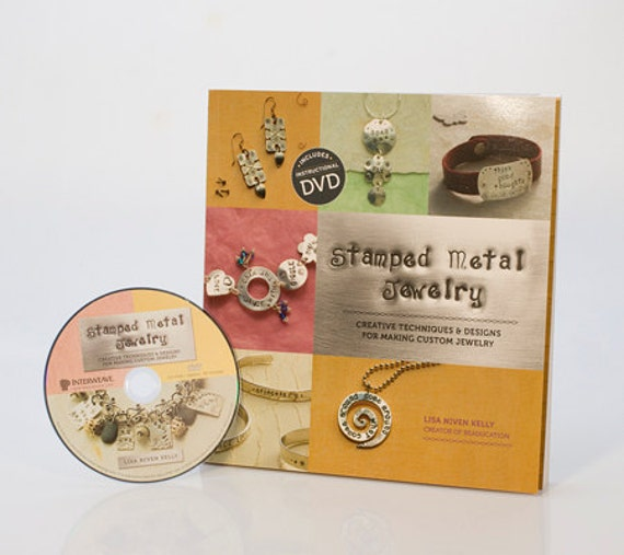 STAMPED METAL JEWELRY Book with dvd - Learn to stamp metal - Necklaces - Charms - Bracelets - Earrings