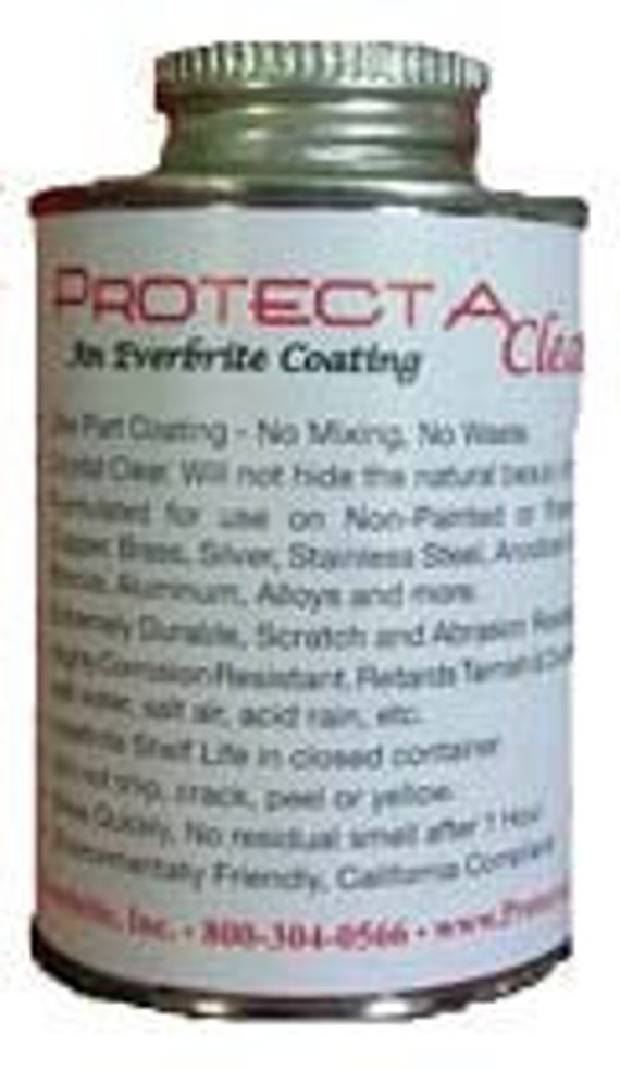 ProtectaClear Protective Coating - Jewelry Protection for Copper,  Bronze, Brass, Silver from Tarnish, Oxidation and Corrosion 4 oz. can