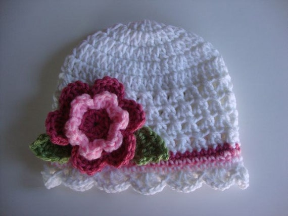 Baby/Toddler/Girl Crochet Hat/Beanie Pattern - Newborn to 4 Years Old - Instant Download
