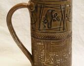 ceramic raven coffee mug 20oz stoneware 20A075