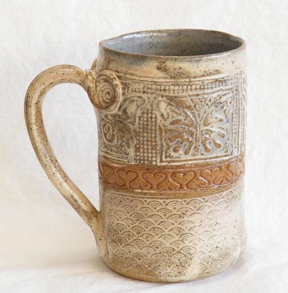 ceramic butterfly mug 16oz stoneware 16D047