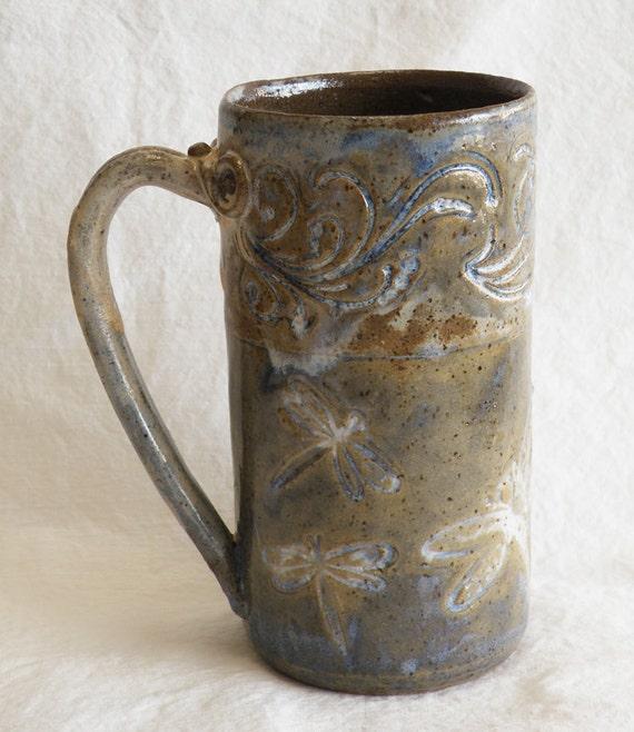 ceramic dragonfly coffee mug 20oz stoneware 20A008