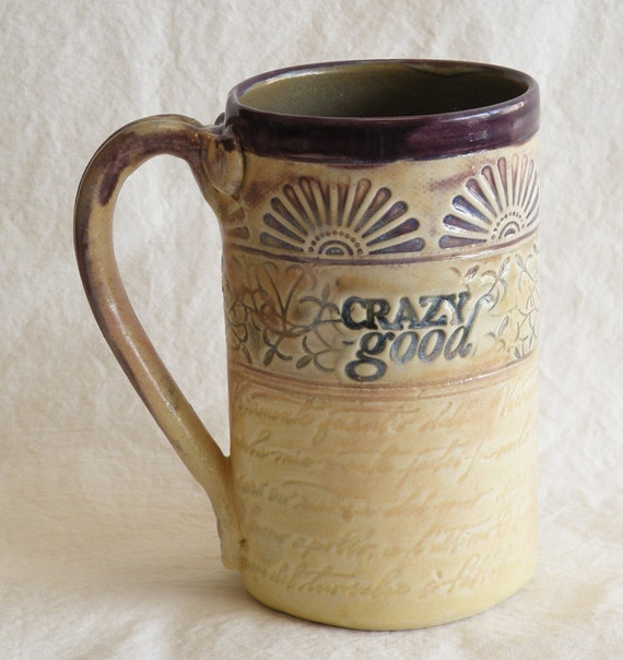 ceramic sunburst coffee mug 16oz stoneware 16A007