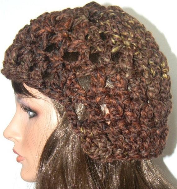 Crocheted Winter Gladiator Hat - Browns