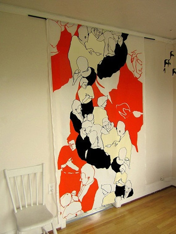 Marimekko Wall Hanging Yst V T Fabric Repeat With Persons In