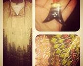 Reserved for LAvintagecat: Boho Silk Navajo print Kaftan Dress