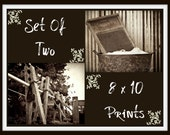 Laundry Room, rustic, vintage, washboard, clothespin, country/farmhouse home decor, set of two 8 x10 prints