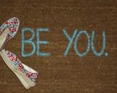 BE YOU doormat (light blue)