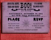 Halloween  Invitation Vintage 4x6 Invitation-DIY