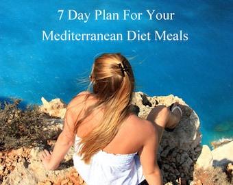 MEDITERRANEAN DIET Meal Plan A 7 Day Plan For Your Mediterranean Diet Meals with Step by Step Guide