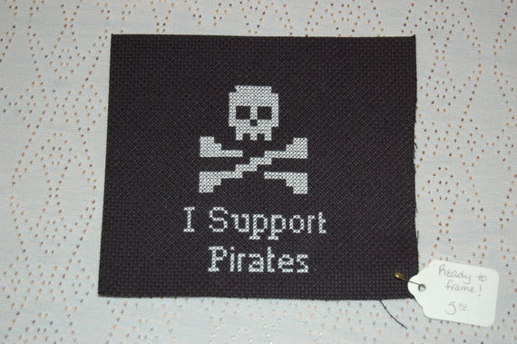 I Support Pirates Ready to Frame Cross Stitch