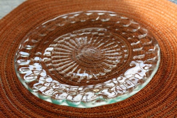 Mandala Recycled Glass Plate Set of 4