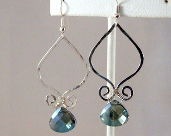 Hammered Genie Drop Earrings