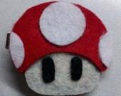 Mario Mushroom Hair Clip/Brooch