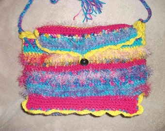 Freeform crochet Molly Weasley shoulder bag to match her sweater