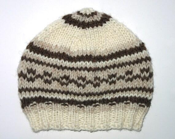 BABY Boys / Unisex Retro Handmade Knitted Wool Beanie Hat