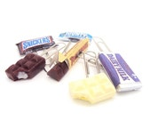 Miniature Food Polymer Clay Chocolate Paper Clips