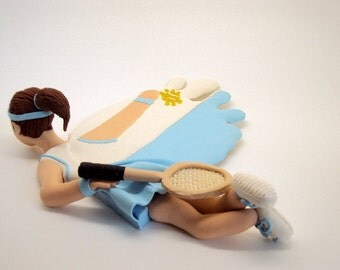 Polymer Clay Coaster Tennis Player