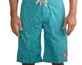 Comrade Cotton Board Shorts Turquoise  Feng Shui.