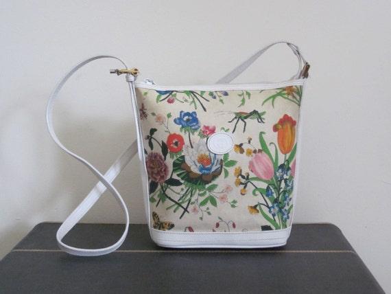 Floral Bucket Bag Bucket Bag/ Crossbody Bag