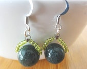 Gemstone Earrings - Jasper Dangle Earrings