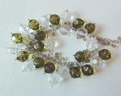 Faceted Beads Dangle Bracelet