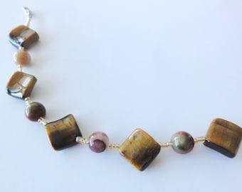 Bronzite & Tiger Eye Bracelet - Gemstone Bracelet