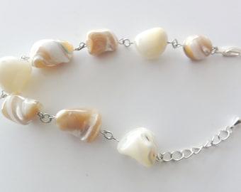 Shell handmade bracelet - one of a kind jewelry