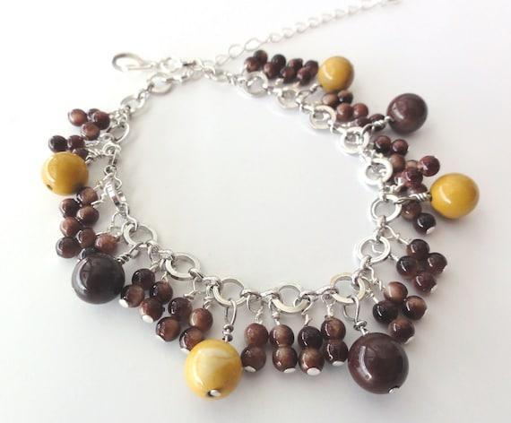 Mookaite Jasper handmade bracelet - one of a kind jewelry