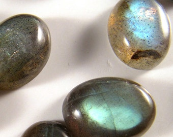 12 pieces Labradorite Cabochons 16mm x 10mm EVERY PIECE has FLASH    ETLab005